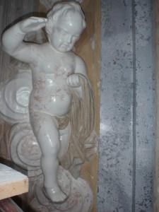 Alabastrowy anioł,stiukowy granit www.pieknestiuki.pl Adamkk