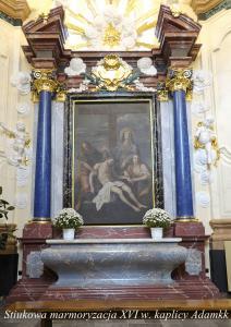 XVI w.ołtarz stiukowy w kaplicy Radziwiłłowskiej. Adamkk www.pieknestiuki.pl