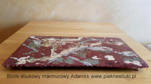 Stolik stiukowy marmurowy.Adamkk pieknestiuki.pl