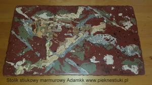Stolik stiukowy marmurowy.Adamkk www.pieknestiuki.pl